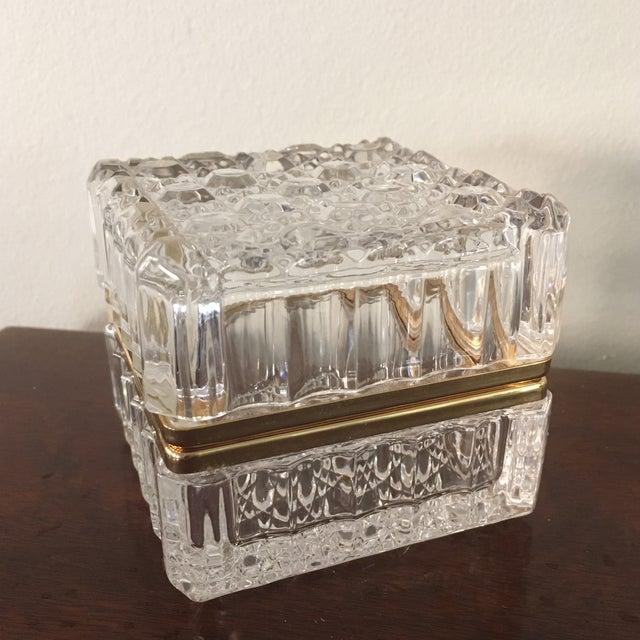 Vintage Cut Crystal Trinket Box For Sale - Image 4 of 4