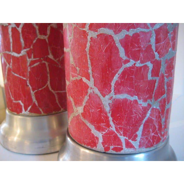 A pair of crackle glaze lamps by Bouck White (1874-1951).