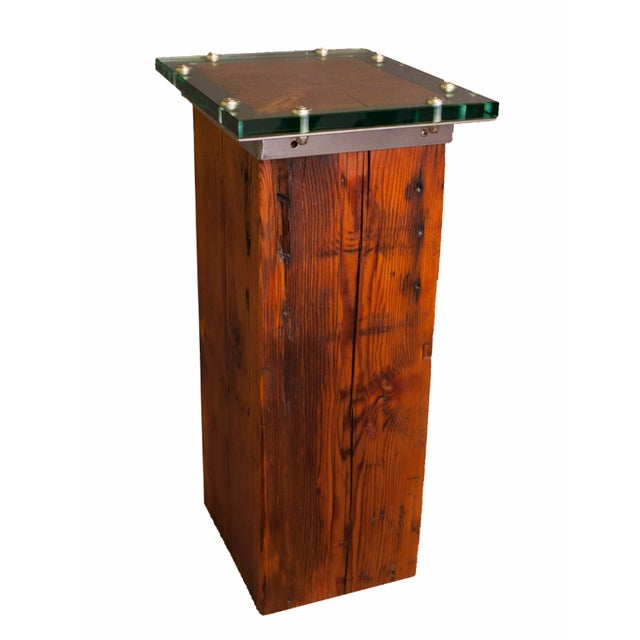 Hand Crafted Harvested Wood Cocktail Table For Sale