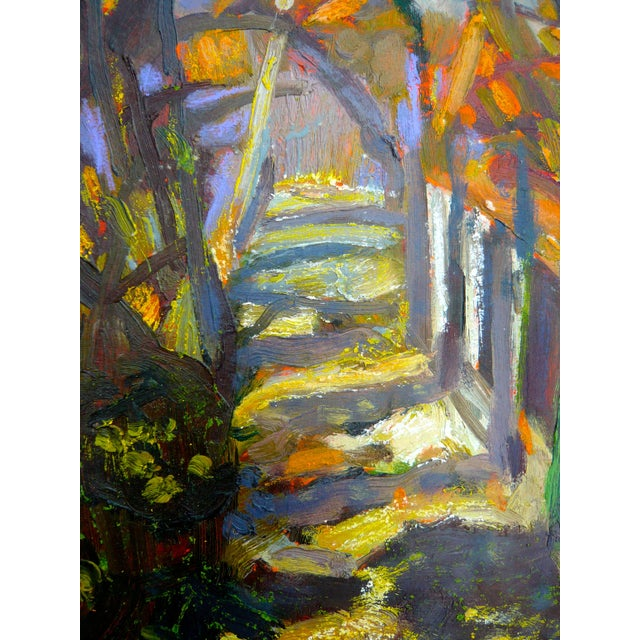 """Path in the Woods"" Original Painting - Image 3 of 7"