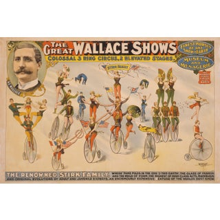 Late 19th-C. Renowned Stirk Family Circus Print For Sale
