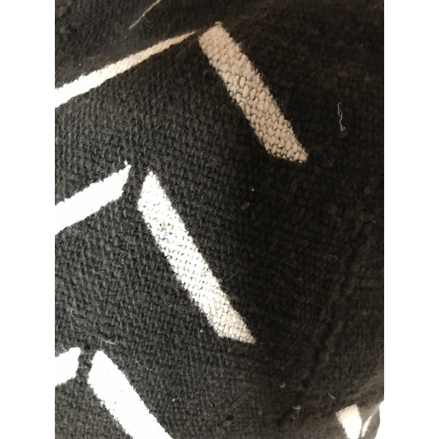 Contemporary Black and White Handwoven African Pillows - a Pair For Sale - Image 3 of 6