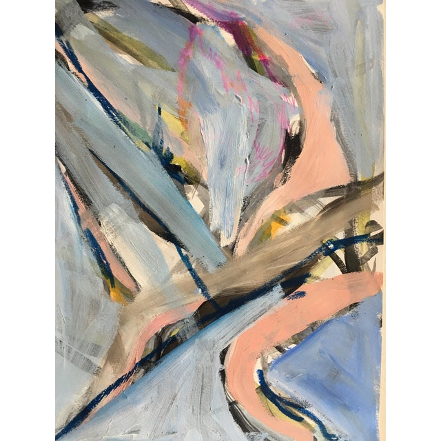 Jessalin Beutler Original Abstract Painting on Paper For Sale - Image 4 of 5