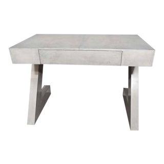 Custom Storm Gray Parchment Z Desk For Sale