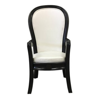 Custom Made Mahogany Framed Accent Chair For Sale