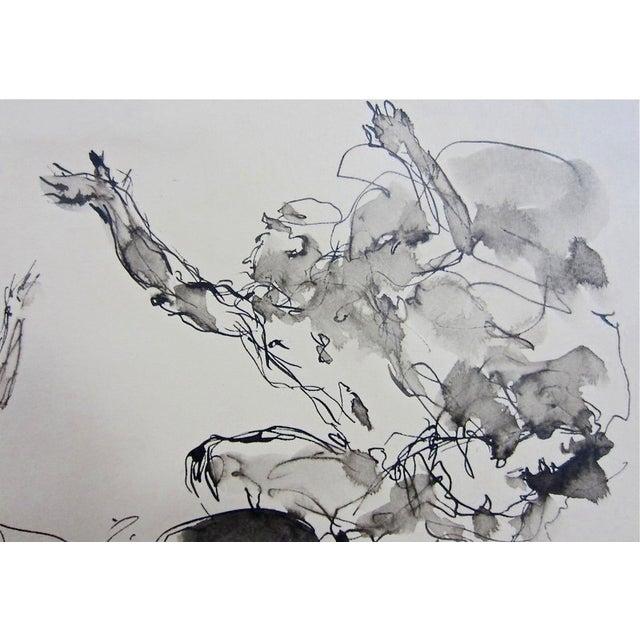Serge Ivanhoff Figural Studies, 1949 Ink Drawing - Image 3 of 6