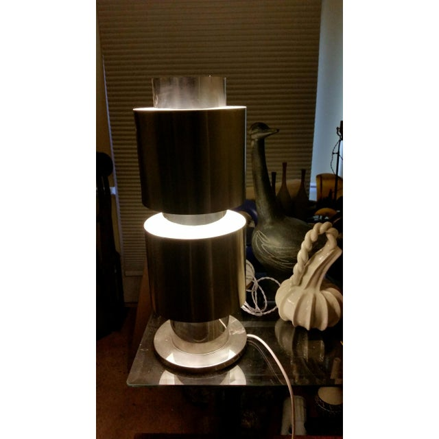 Stainless Steel Table Lamp Attributed to Willy Rizzo For Sale - Image 10 of 10