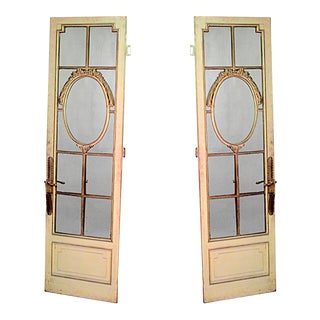French Louis XVI Mirrored Doors - a Pair For Sale