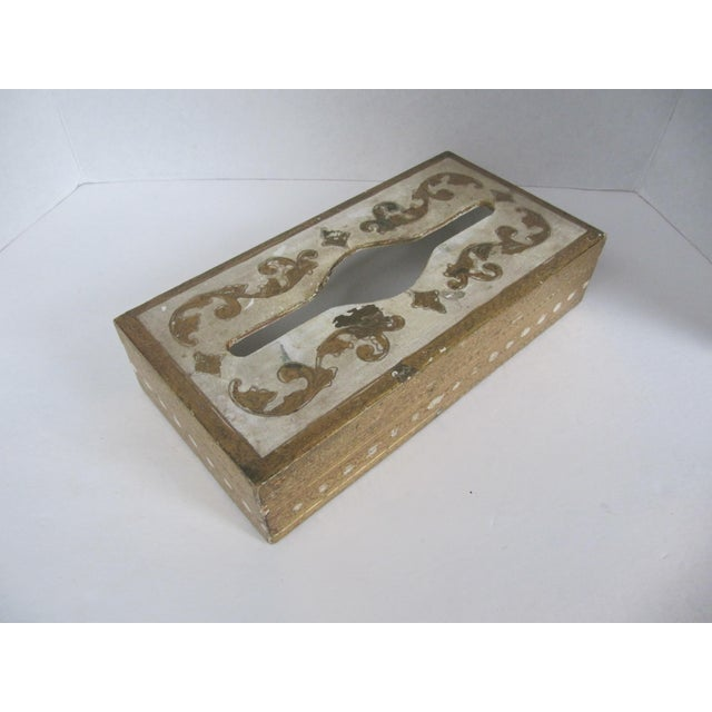 Florentine Tissue Box Holder & Tray For Sale - Image 4 of 8