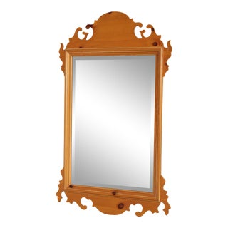Lexington Chippendale Style Pine Wall Mirror For Sale