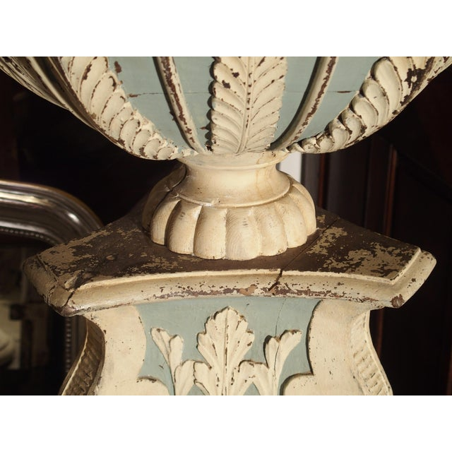 This magnificent and tall wooden jardiniere or planter is from a private chapel in a chateau near Bruges. It is in two...