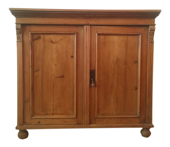 19th C Antique French Pine Cabinet