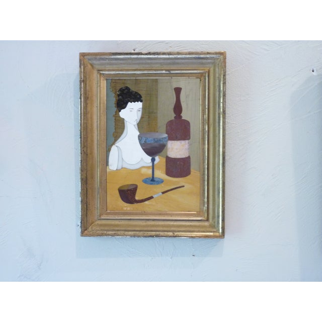 Pietra Dura Portraits - a Pair For Sale - Image 4 of 9