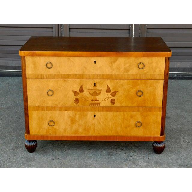 1920 Swedish Art Deco Inlaid Dresser in Golden Birch Wood ...
