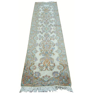 "Handmade French Wool Runner Rug - 2'5"" x 9'6"""