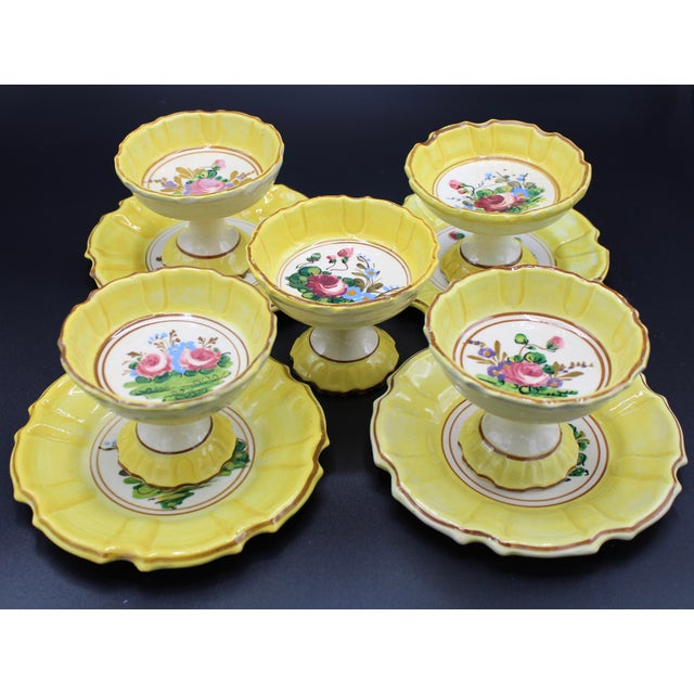 1940s Italian Dessert Plates and Compotes For Sale - Image 10 of 10