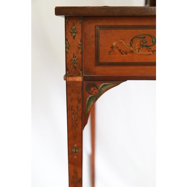 Brown 19th Century Federal Hand-Painted Secretary Desk For Sale - Image 8 of 12