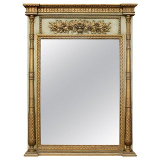 Early 20th Century Neoclassical Style Trumeau Mirror For Sale