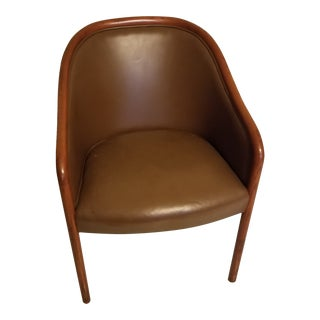 Vintage Mid Century Ward Bennett Leather Chair For Sale