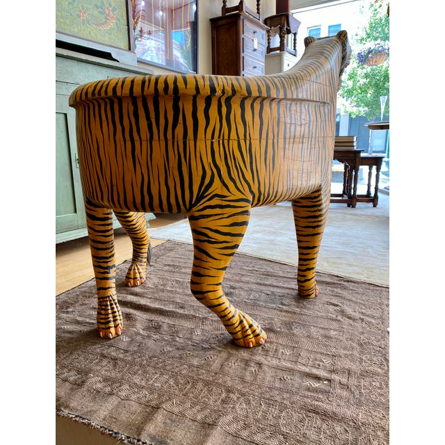 1970's Vintage Tiger Tub Chair For Sale - Image 10 of 13