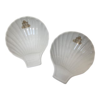 Hotel Ritz Portugal Shell Dishes - A Pair