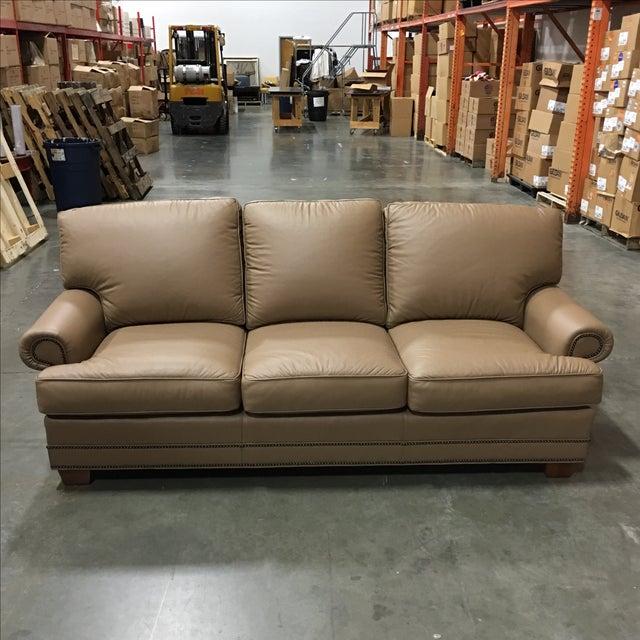 Leathercraft Tan Leather Sofa - Image 2 of 6