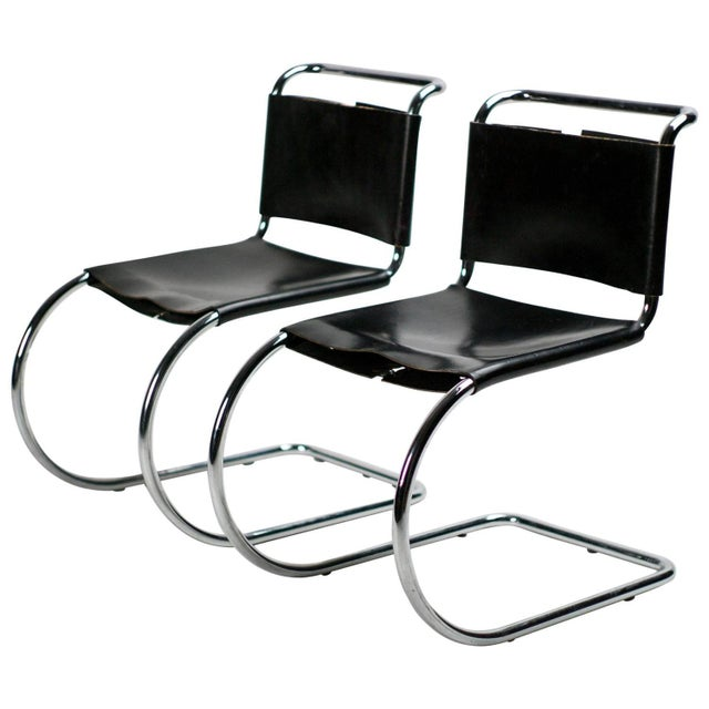 Mies van der Rohe for Knoll MR 10 Chairs - A Pair - Image 2 of 3