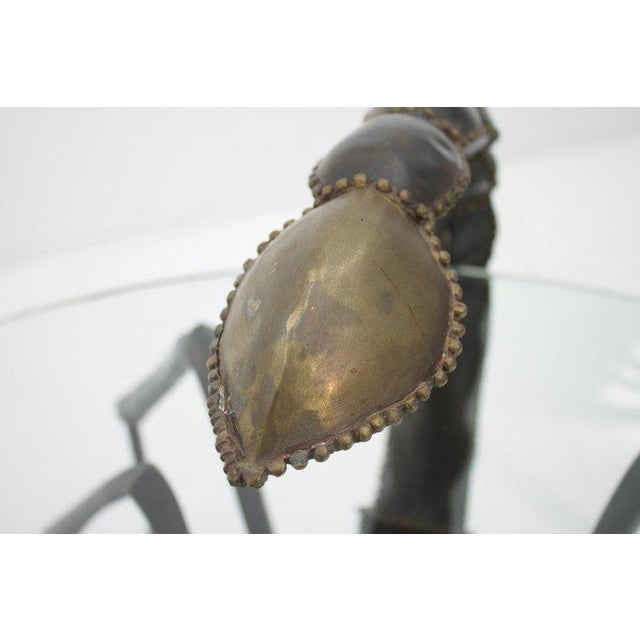 Metal Bronze Scorpion Coffee Table Attributed to Jacques Duval-Brasseur France, 1970s For Sale - Image 7 of 11