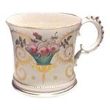 Image of Antique Floral Paris Porcelain Cachepot For Sale