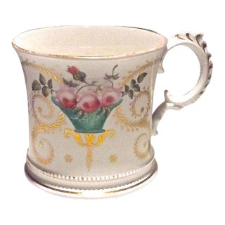 Antique Floral Paris Porcelain Cachepot
