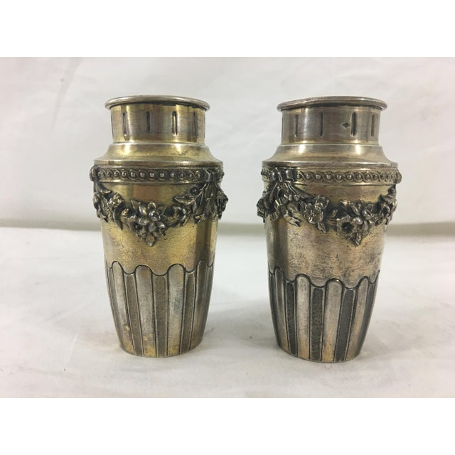 French French Napoleon III Sterling Silver Vermeil Miniature Vases - a Pair For Sale - Image 3 of 4