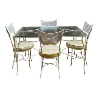 Faux Bamboo Dinette Set For Sale