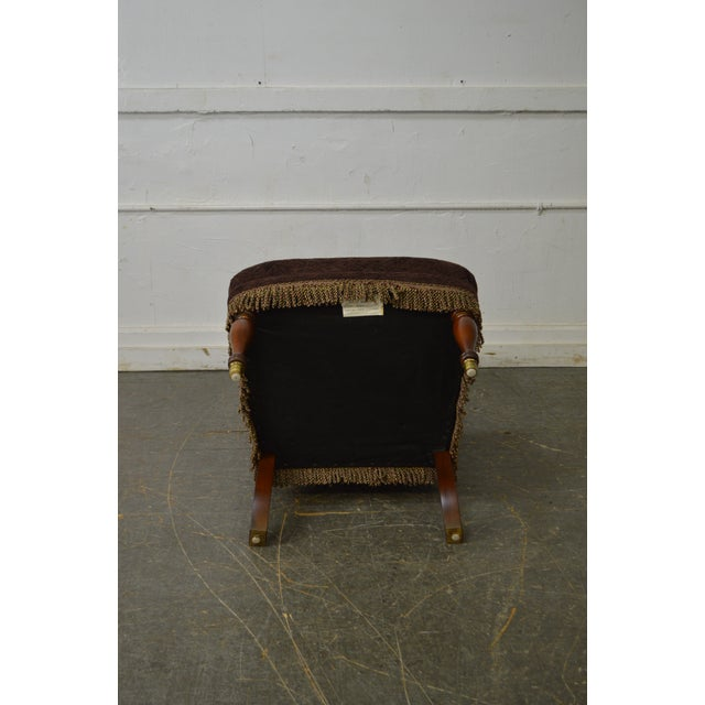 Drexel Drexel Pair of High Back Upholstered Host Arm Chairs (B) For Sale - Image 4 of 11
