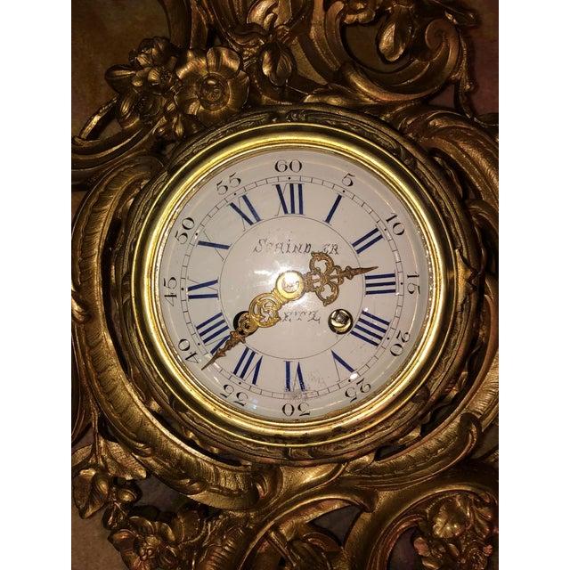 Louis XV 19th Century Louis XV Bronze Ormolu Cartel Clock For Sale - Image 3 of 12