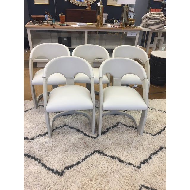 Emporium Home Shagreen and Leather Dining Chairs - Set of 6 For Sale In Charlotte - Image 6 of 6