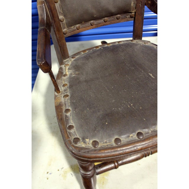 19th Century Antique Child's Rocking Chair For Sale - Image 4 of 6
