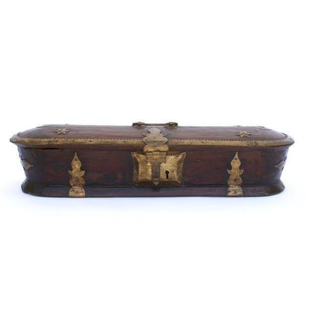 Vintage Wood Kerala Box II For Sale - Image 4 of 9