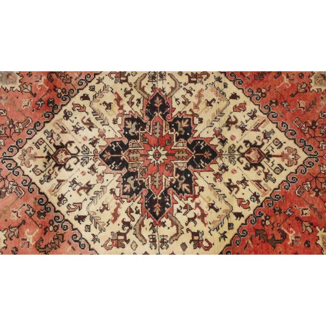 "Persian Heriz Area Rug - 6'7"" x 4'11 - Image 2 of 3"