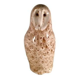1970s Vintage Art Pottery Owl Sculpture For Sale