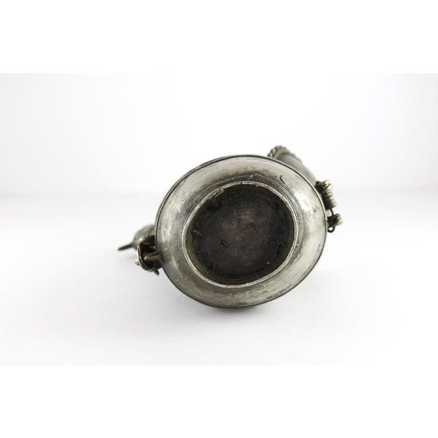 Silver Vintage Metal Peacock Betel Lidded Box For Sale - Image 8 of 13