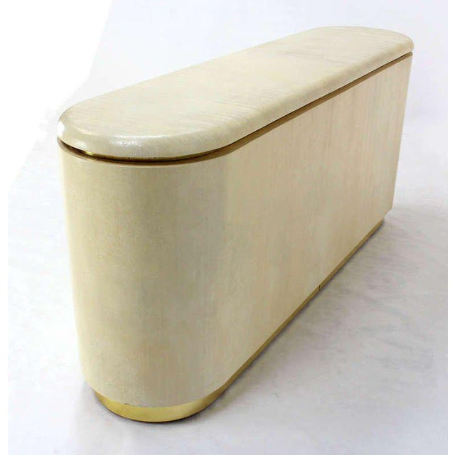 Mid-Century Modern, Drum Shape Long Credenza Server in the Springer Style For Sale In New York - Image 6 of 7