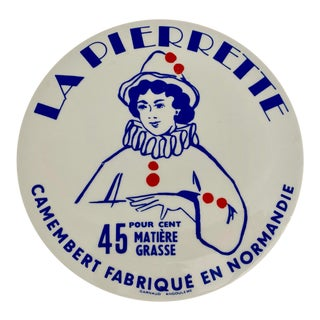 French La Pierrette Porcelain Cheese Plate For Sale