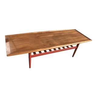 "1960s Danish Modern Grete Jalk Danish Design ""Surfboard"" Coffee Table For Sale"