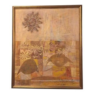 Mid Century Modern Anna Hoffman Painting For Sale