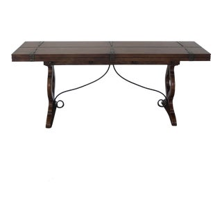 Vintage Spanish Style Fold Out Console Table For Sale