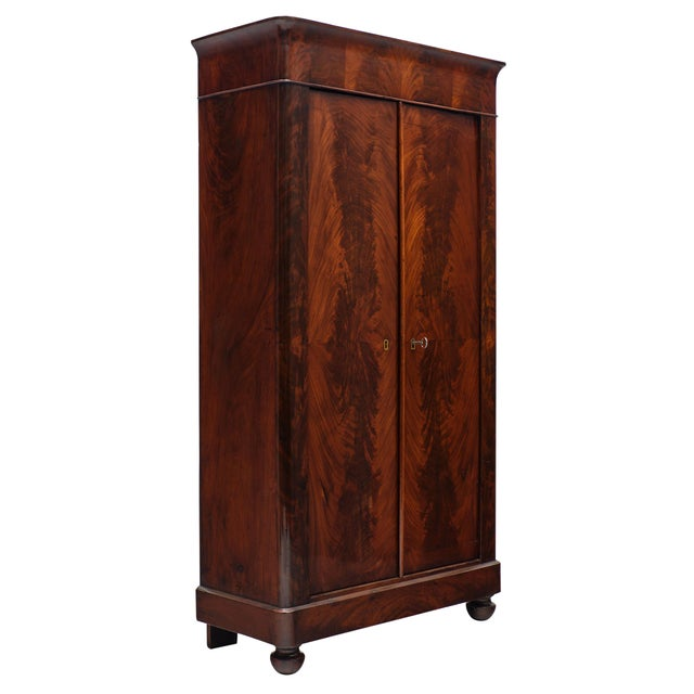 Early 19th Century French Restoration Antique Armoire For Sale - Image 5 of 10