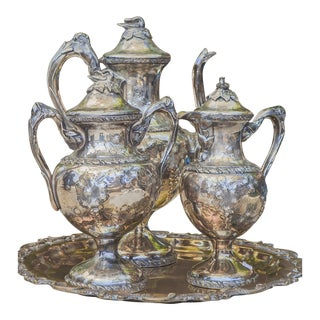 Antique Victorian Silver Repose Tea Service - Set of 3 For Sale