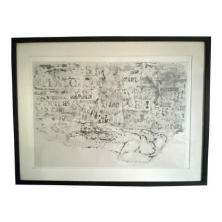 """1960s """"Requiem"""" Aquatint Etching by Misch Kohn, Framed For Sale"""