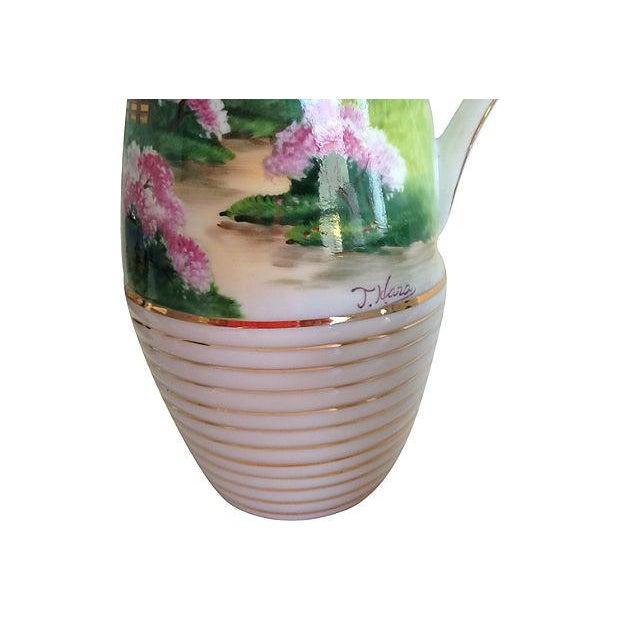 Midcentury Porcelain Sake Set - 8 Pieces - Image 4 of 7