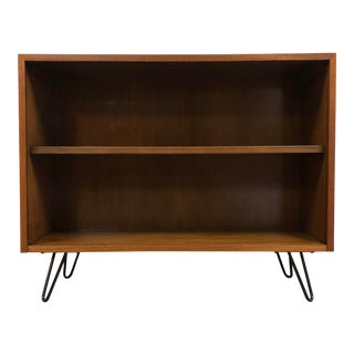 Walnut Mid Century Modern Bookcase For Sale